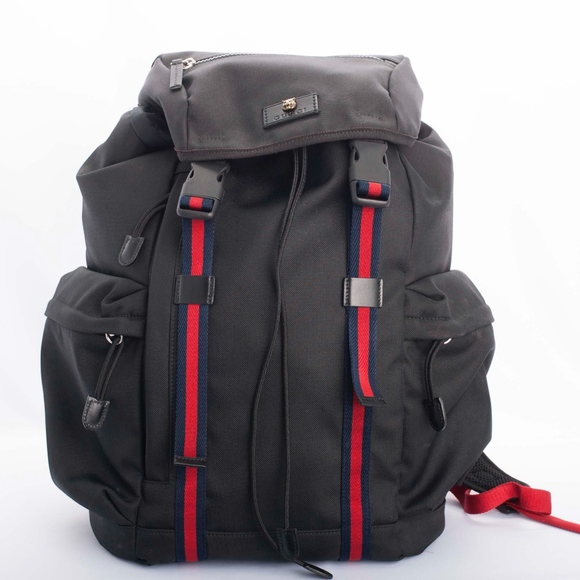 120dea2fdb7 Gucci Other - Auth GUCCI black TECHNO CANVAS nylon Backpack